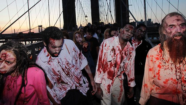 Clemson University English professor Sarah Lauro says people are more interested in zombies when they're dissatisfied with society as a whole. Picture: AP