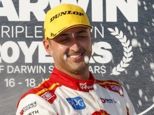 An image supplied Saturday, June 17, 2017 of Fabian Coulthard of DJR Team Penske wins race 1 of the CrownBet Darwin Triple Crown, at the Hidden Valley Raceway, Darwin, Northern Territory. (AAP Images/EDGE Photograph) NO ARCHIVING