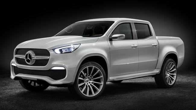This Mercedes-Benz X-Class concept hints at the AMG edition due in 2018. However, it too will have diesel power rather than hi-po petrol performance. Picture: Supplied.