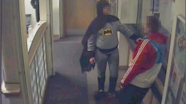 A 27-year-old man was brought into Trafalgar House Police Station in Bradford by someone who looked like Batman. Picture: West Yorkshire Police