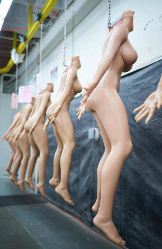 The dolls hang up ready to be dispatched to their new owners. Picture: John Chapple/Sun Online