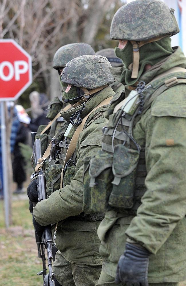 Unidentified armed men, alleged to be Russian, seized the Crimean peninsula at the weekend. Picture: AFP