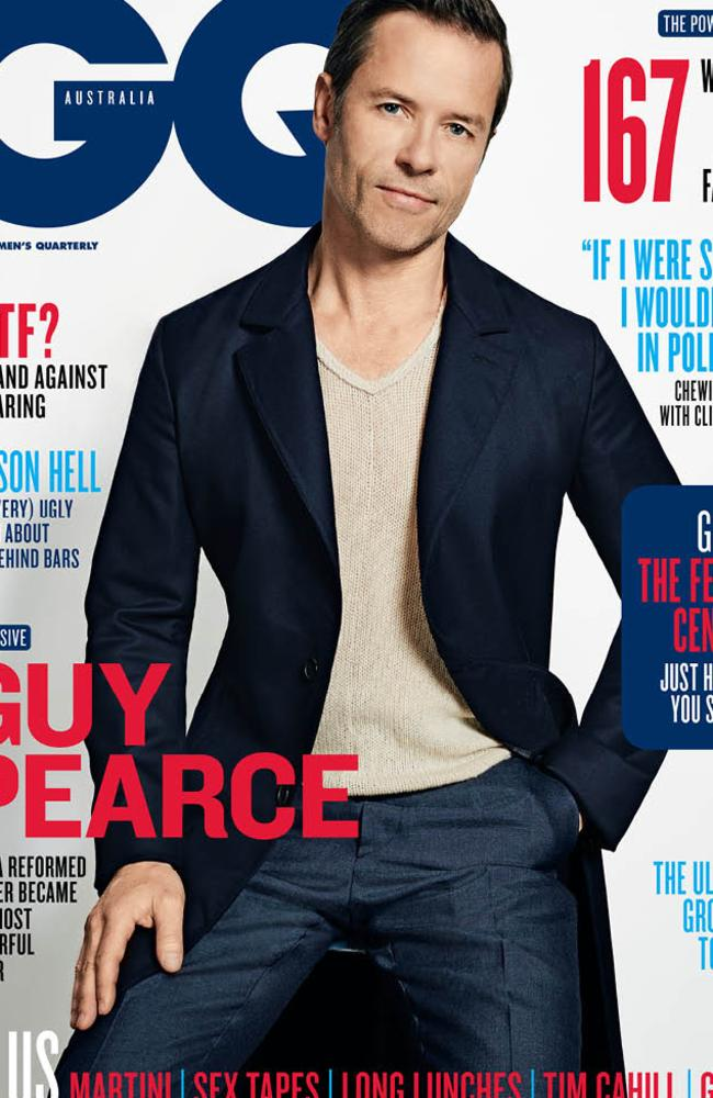Guy Pearce opens up about drug use in the August issue of GQ Australia.