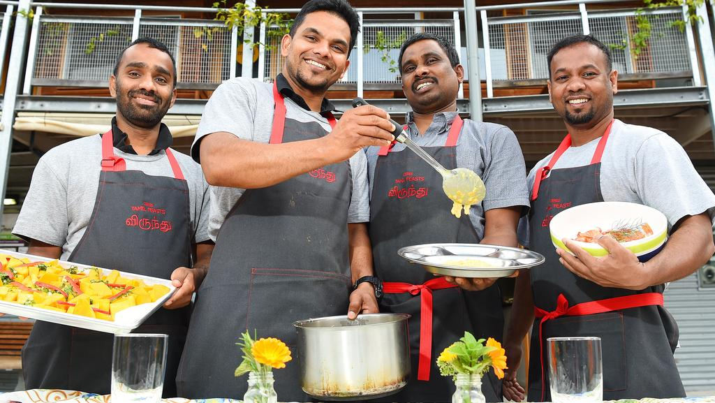 Tamil asylum seekers use new-found culinary skills to whip-up hearty meals at Brunswick East community kitchen