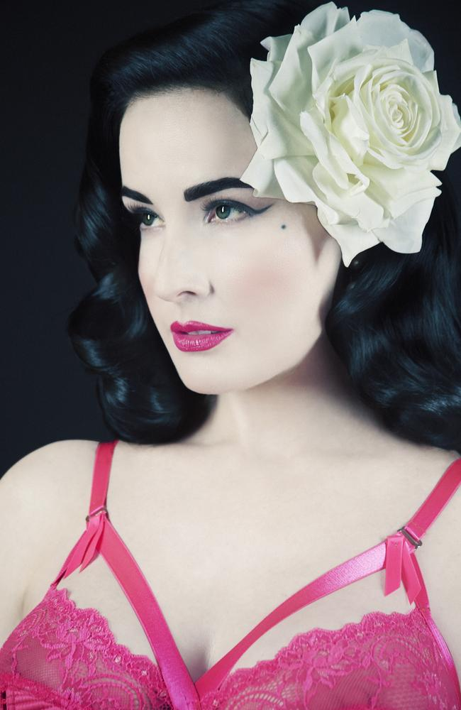 dita von teese burlesque star on fifty shades of grey sex bras and sharon stone herald sun. Black Bedroom Furniture Sets. Home Design Ideas