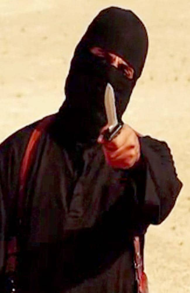 "British jihadist ""Jihadi John"", executioner Mohammed Emwazi is believed to have been killed in 2015. Picture: AFP"