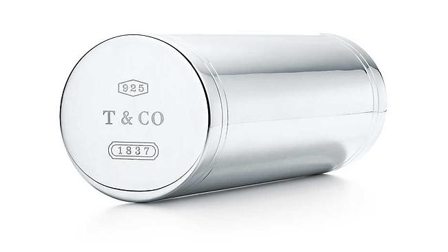 This Tiffany & Co tennis ball tin is made from sterling silver and retails for $1500. Picture: Tiffany & Co.