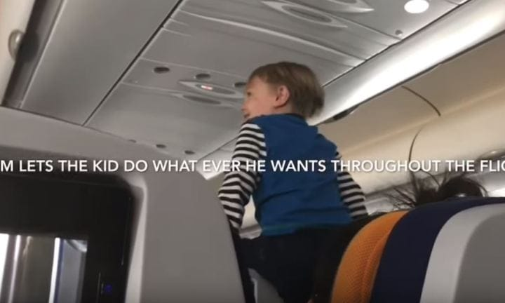 Child screams for entire eight hour flight video kidspot at one point the boy started banging the ceiling of the plane source youtube forumfinder Gallery