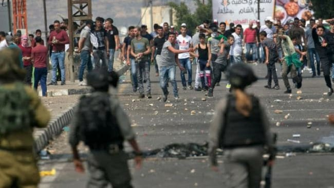 The White House said the blame for the clashes rested directly with Hamas, claiming many of those killed had 'terrorist links'. Photo AFP