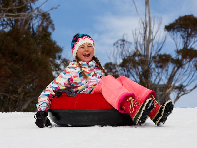 Snow tubing at Thredbo's new Snow Play Park.