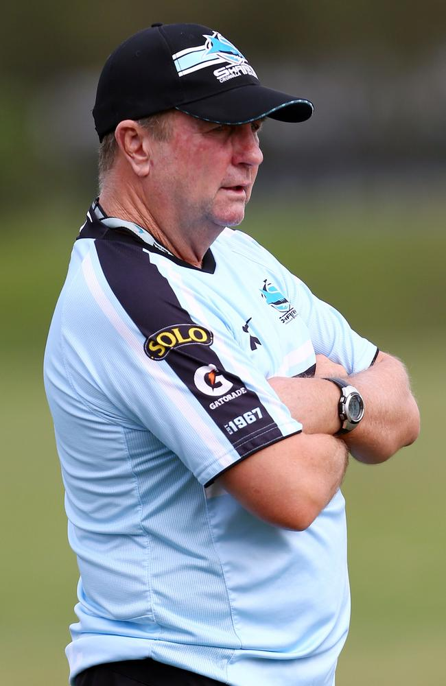 Sharks coach Peter Sharp.