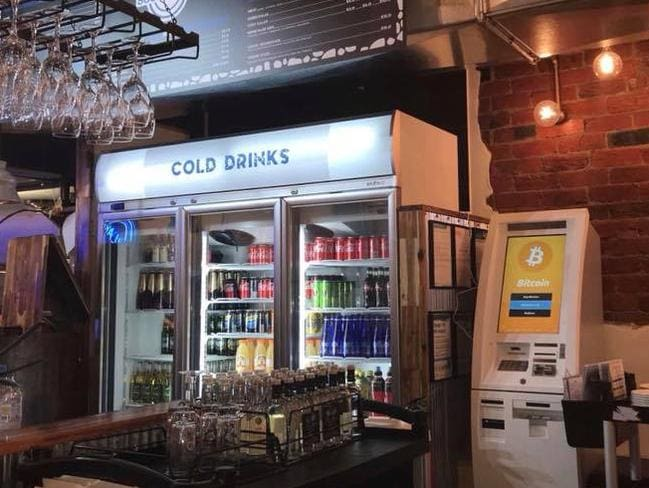 He says his bitcoin machine is already getting a workout in his Thornbury souvlaki store. Picture: Supplied
