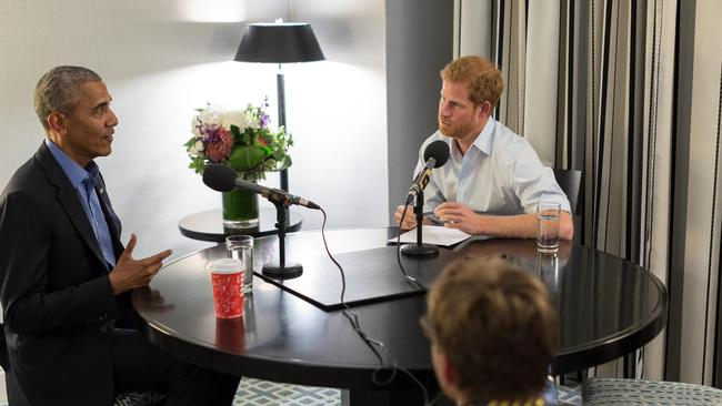 Prince Harry interviews former US President Barack Obama for BBC Radio 4