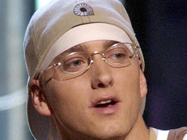 Rapper ... Eminem performing at the MTV Movie Awards in 2003.