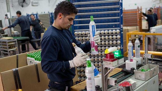 SodaStream employs 800 Palestinians and 500 Israelis at the Mishor Adumim plant, according to a company spokesman.