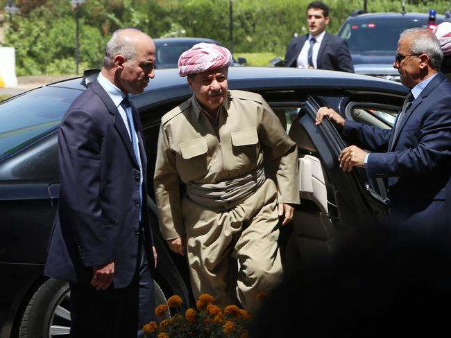 Self-determination ... the president of Iraq's autonomous Kurdistan region, Massud Barzani, has asked its parliament to start organising a referendum on independence. Picture: Safin Hamed