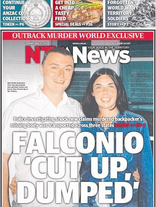 Thursday's NT News front page
