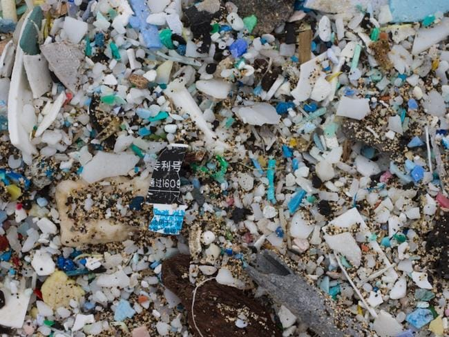 Plastic gradually breaks down into smaller and smaller pieces. Picture: Tim Silverwood.