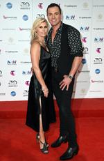 Shannon Noll and Rochelle Ogston arrive on the red carpet for the 30th Annual ARIA Awards 2016 at The Star on November 23, 2016 in Sydney, Australia. Picture: AAP