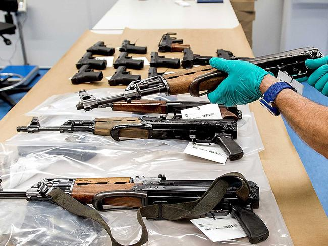 Some of the weapons found at Lash's house had never been fired or still had price tags on them.