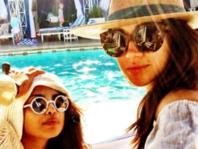 Meghan Markle and her BFF Priyanka Chopra. Picture: Instagram