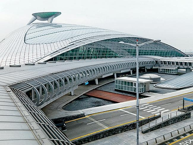 Incheon International Airport in South Korea.