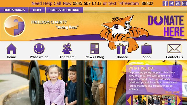 Freedom Charity's website.