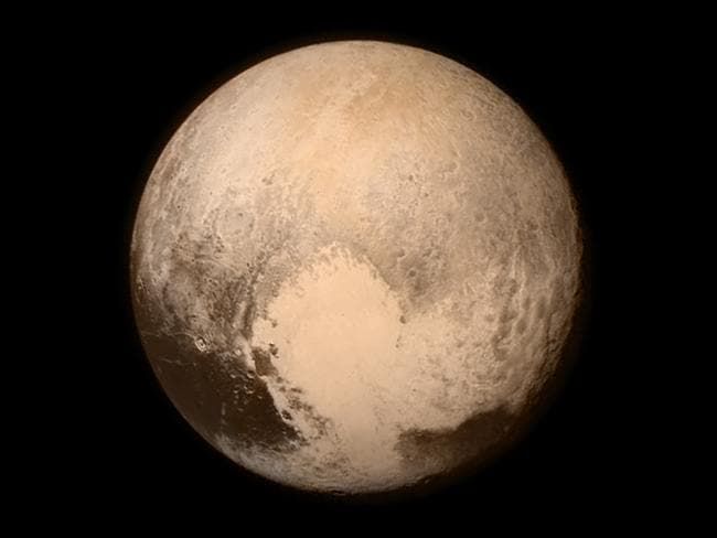 This image series featured this highly detailed image of Pluto. Picture: NASA/APL/SwRI