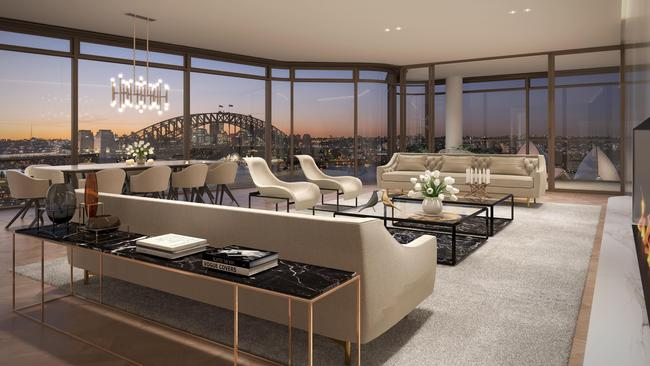 Artist's impression of the developments's penthouse.