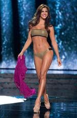 Mariana Jimenez, Miss Venezuela 2015 competes in the swimsuit competition during the 2015 Miss Universe Pageant on December 20, 2015 in Las Vegas. Picture: Miss Universe