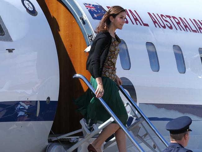Denmark's Crown Princess Mary visits the Royal Flying Doctor Service Base in Broken Hill in 2011.