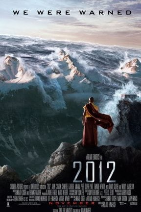 Theatrical poster for the apocalyptically-themed '2012'. Picture: Supplied