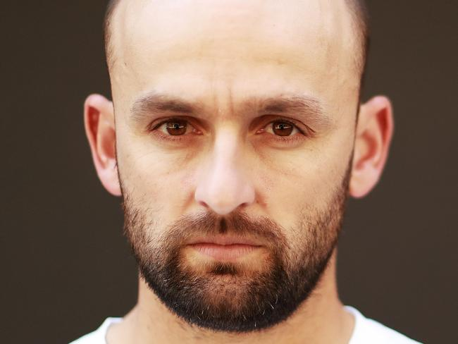 SYDNEY, AUSTRALIA - OCTOBER 12:  Australian Cricketer Nathan Lyon poses during a portrait session in Surry Hills on October 12, 2017 in Sydney, Australia.  (Photo by Ryan Pierse/Getty Images)