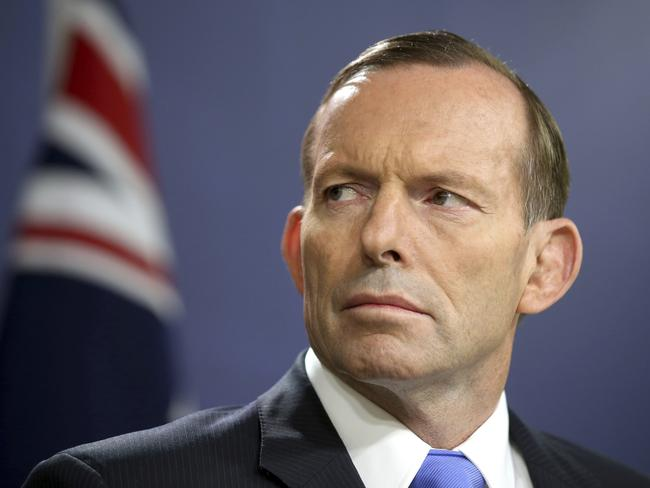 Tony Abbott has likened climate change scientists to the thought police. Picture: AP