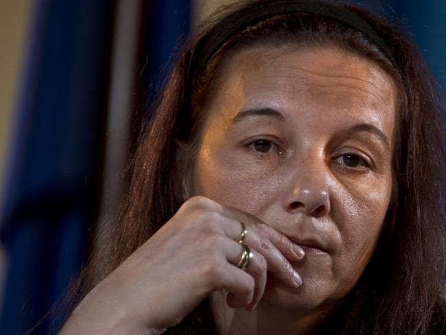 'The French lady is lucky isn't she' ... Sabine Atlaoui, the wife of French drug convict and death row prisoner Serge Atlaoui whose planned execution was put on hold. Picture: AFP / Romeo Gacad
