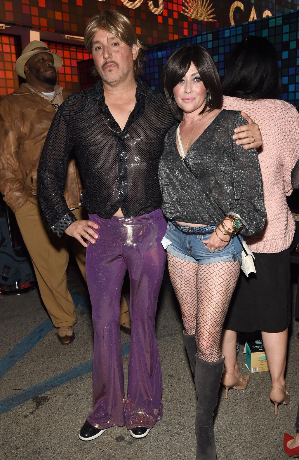 Kurt Iswarienko and Shannen Doherty attend Casamigos Halloween Party on October 27, 2017 in Los Angeles, California. Picture: Michael Kovac/Getty Images for Casamigos Tequila
