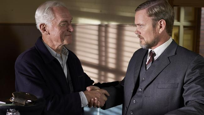 Relishing the role ... John Stanton and Craig McLachlan in The Doctor Blake Mysteries. Picture: Supplied.