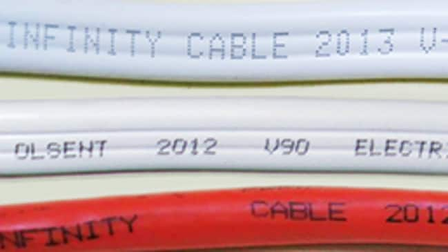 Recalled Infinity cabling. Source: ACCC
