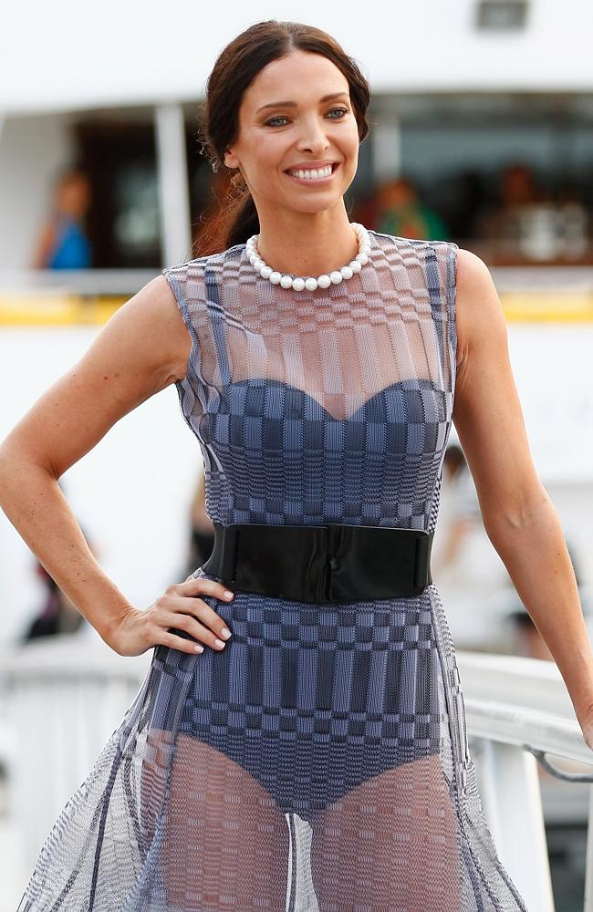 Erica Packer poses before boarding a yacht at a launch event for the November issue of Vogue on October 21, 2013 in Sydney, Australia. Picture: Getty
