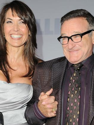 Grief-stricken ... Robin Williams' wife Susan Schneider released a statement saying she had lost her best friend. Picture: AP Photo.
