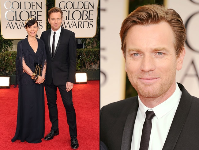 Ewan McGragor and Eve Mavrakis on the red carpet at the 69th Annual Golden Globes. Picture: Getty