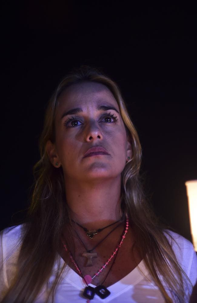 Lilian Tintori, wife of imprisoned Venezuelan opposition leader Leopoldo Lopez.
