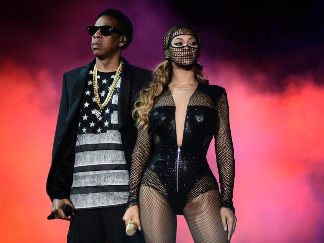 Power couple ... Beyonce and Jay Z recently completed the North American leg of their On The Run tour. Picture: AP