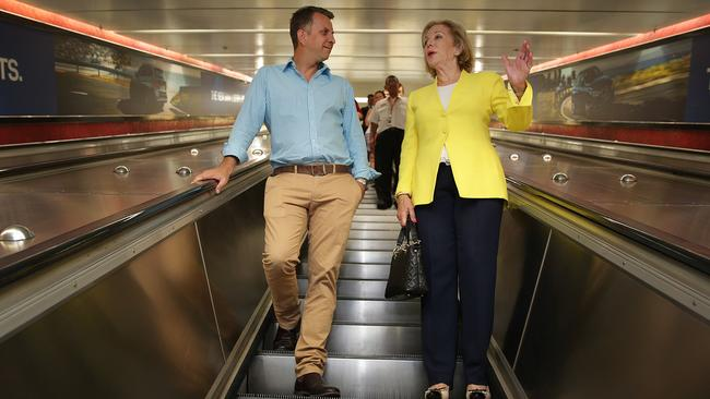 NSW Transport Minister Andrew Constance and Ita Buttrose have been spruiking a new range of concession Opal card which are replacing paper tickets.