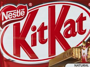 Toronto, Canada - May 8, 2012: This is a studio shot of KitKat wafer bar candy made by Nestle isolated on a white background.