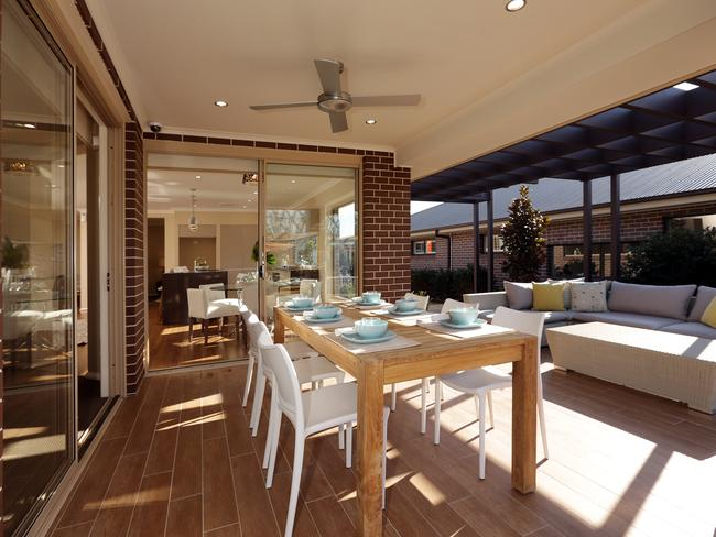 The alfresco dining area gives a second option for entertaining and family meals. Picture: John Fotiadis