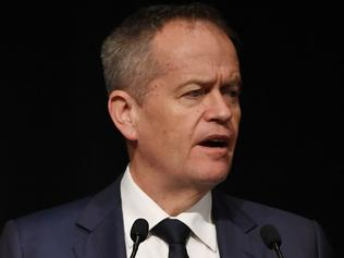 Leader of the Opposition Bill Shorten speaks at the Australian Clean Energy Summit 2017 in Sydney on Tuesday, July 18, 2017. (AAP Image/David Moir) NO ARCHIVING