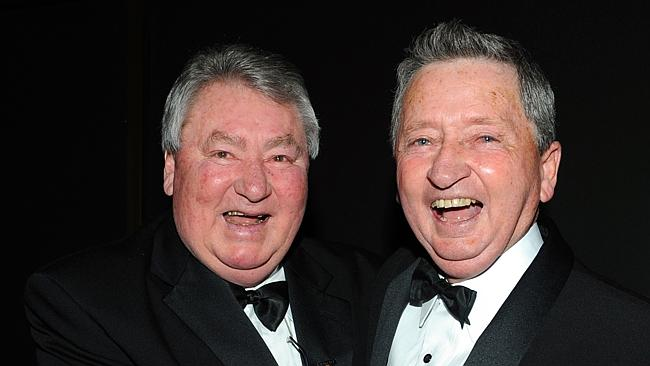 Roy Higgins with great mate and fellow former jockey John Letts at the Australian Horse of the Year and Hall of Fame awards in 2010.