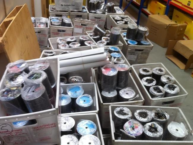 Police seized 1.3m discs at Kings Park (above), 95,000 discs at Blacktown and more at Defredes' home worth $21 million if sold. Picture: NSW Police.