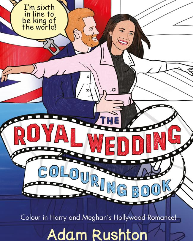 The Royal Wedding Colouring Book. Picture: Hachette